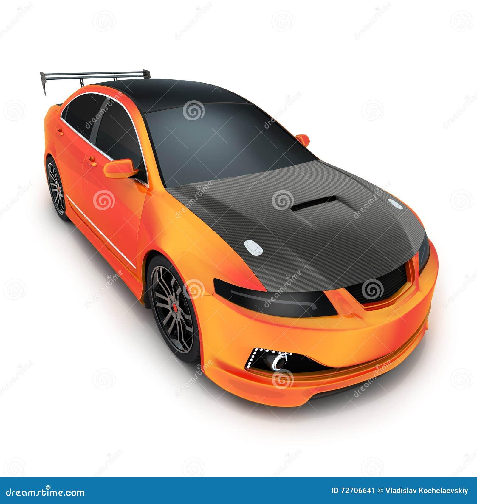 Sport Car Orange Stock Illustration Illustration Of Motorsport