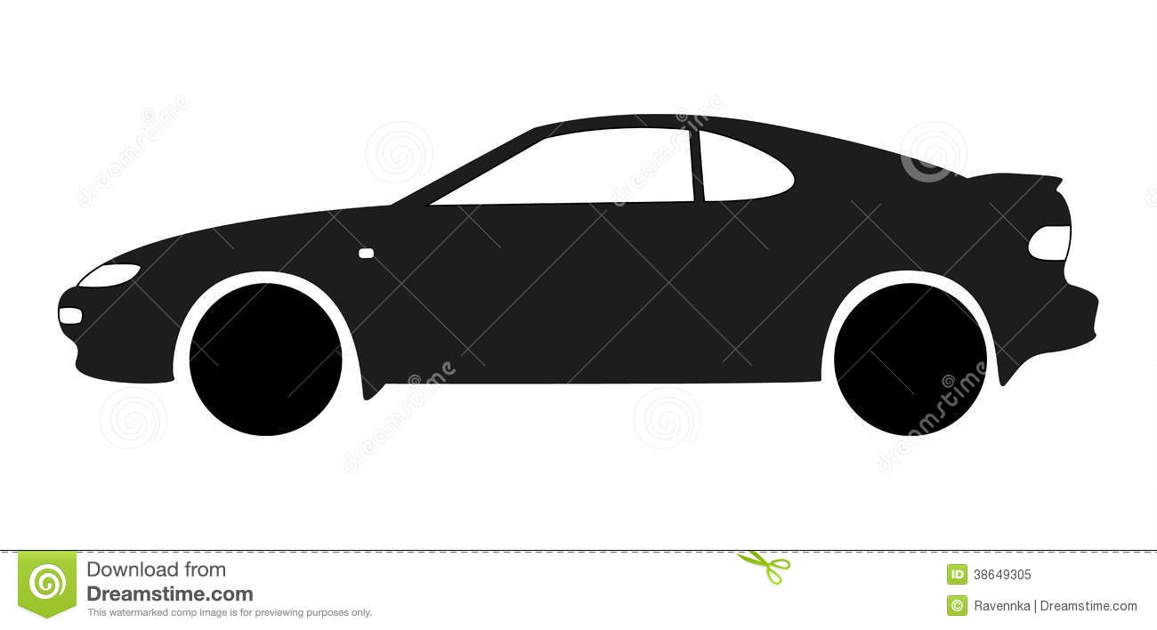 Sport Car Silhouette Royalty Free Stock Photo - Image ...