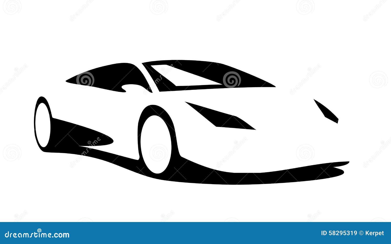 Sports car silhouette vector 4