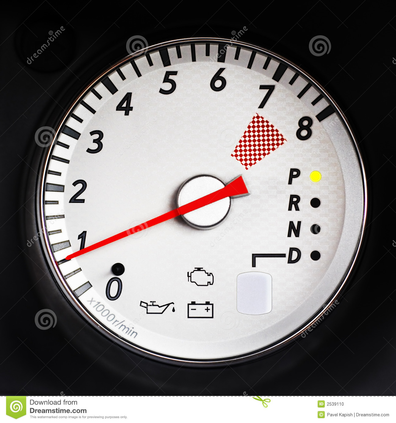 Sport Car Tachometer Stock Photo  Image Of Competition