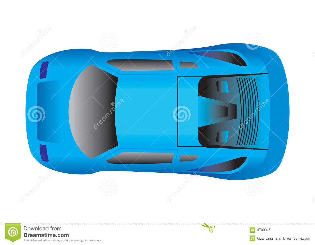 Sport Car Top View Stock Vector Illustration Of Gasoline 4700315