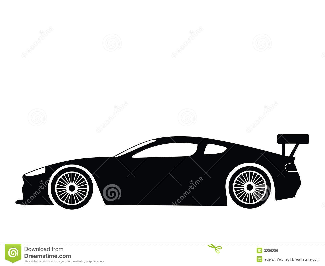 Sports car silhouette vector 6