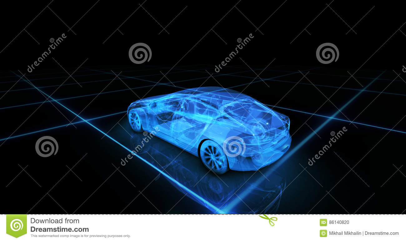 Sport car wire model with blue neon ob black background stock photo download sport car wire model with blue neon ob black background stock photo image of malvernweather Gallery