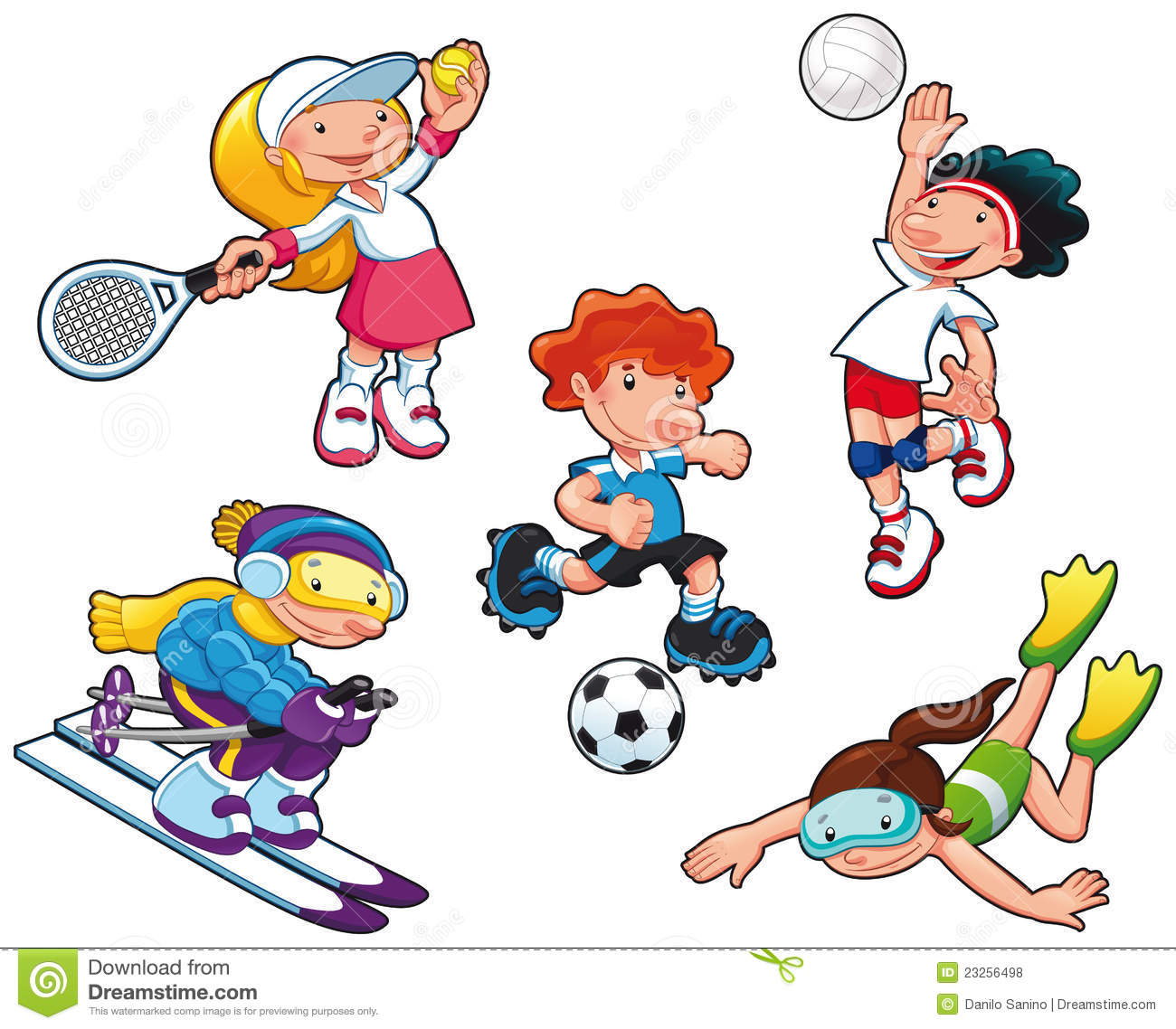 Sport Characters Royalty Free Stock Photos Image 23256498