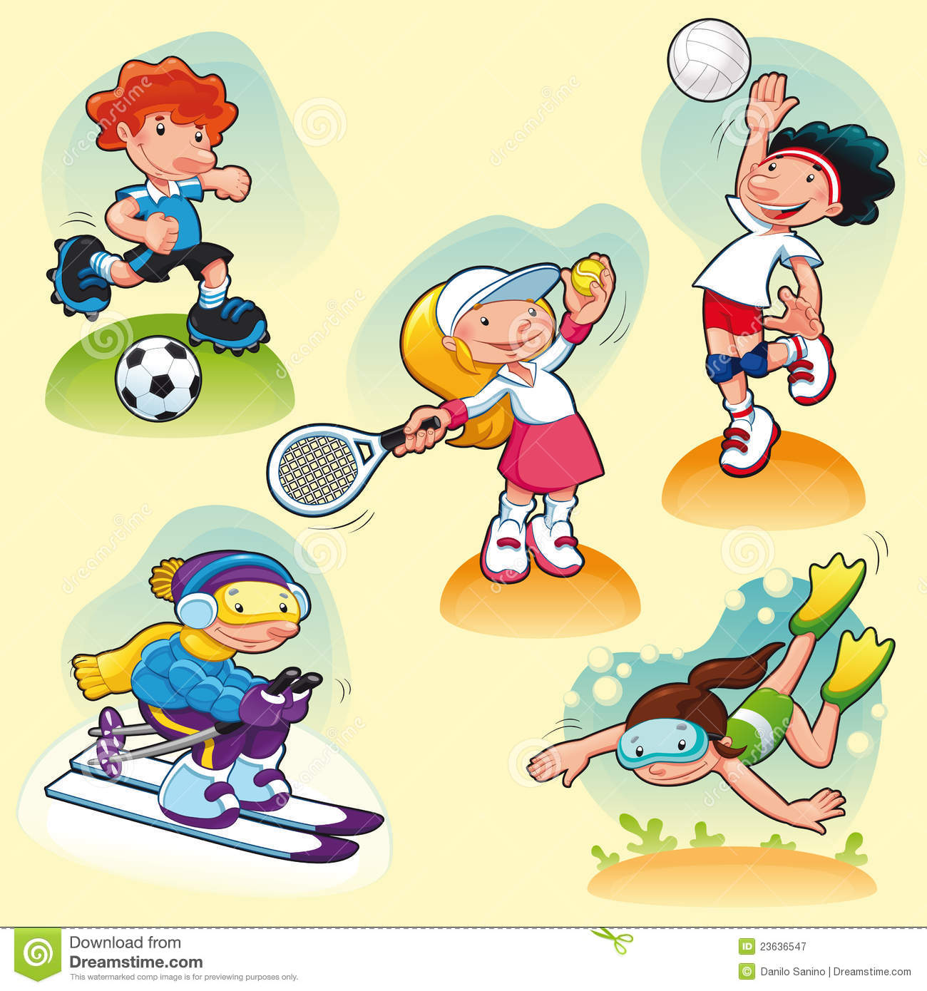 cartoon sport characters background sports practising vector illustration volleyball yellow animal tennis freepik macaw bird royalty preview crestock dreamstime shutterstock