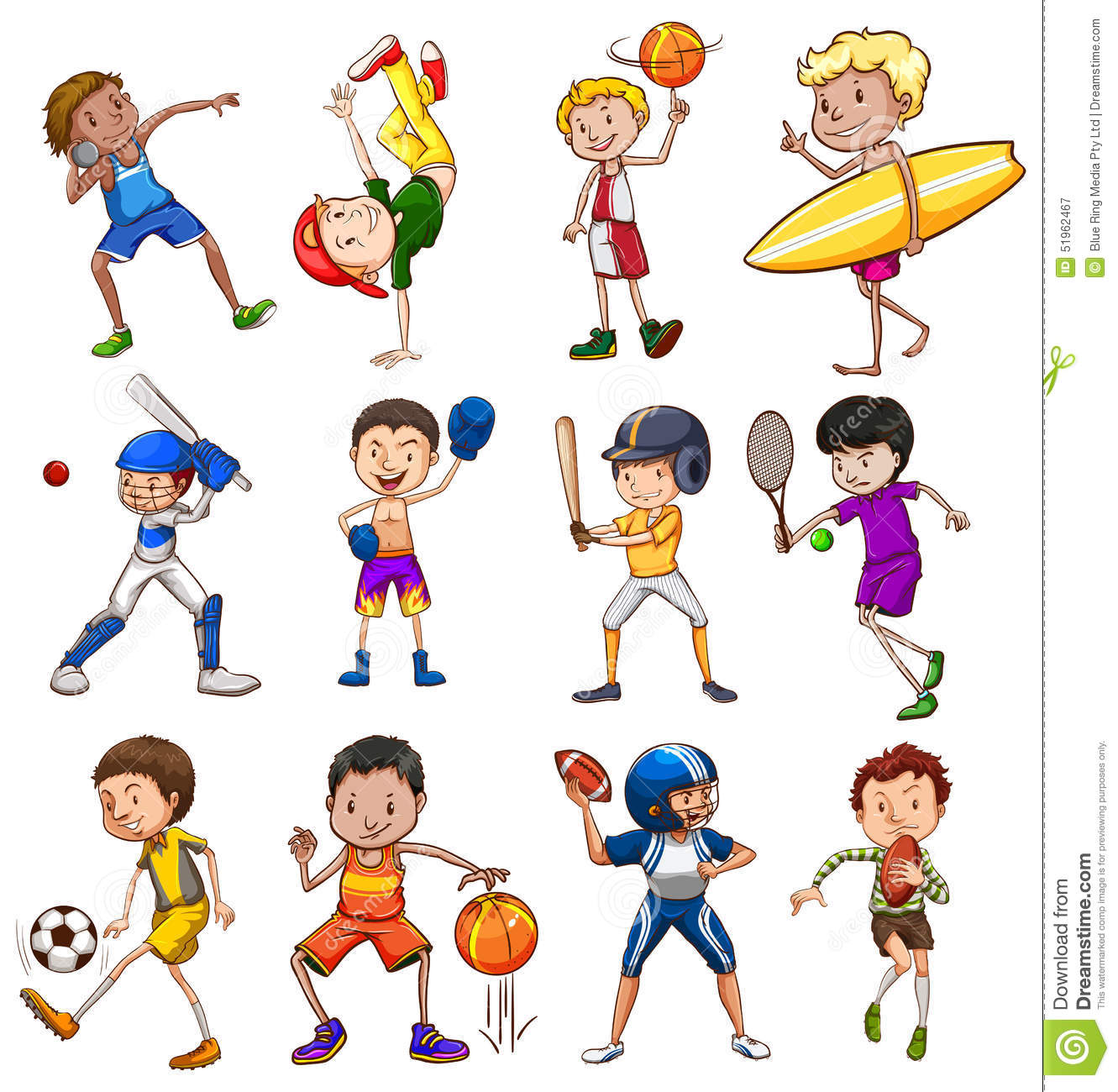 sport sports types children playing athletic clipart vector exercise