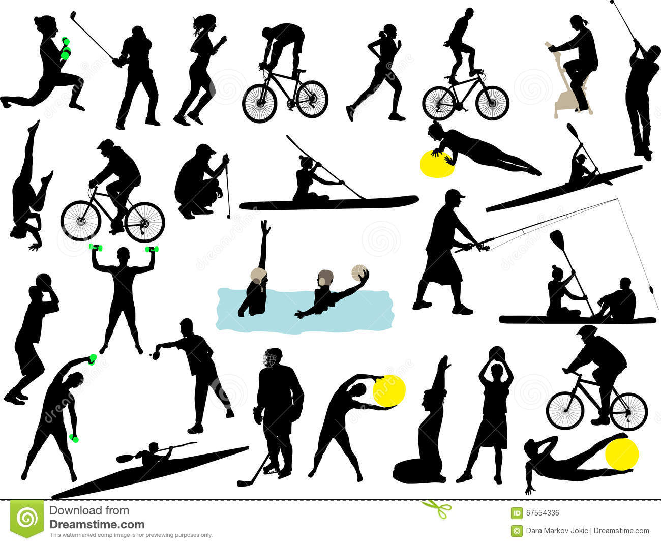 Sport collection vector silhouette