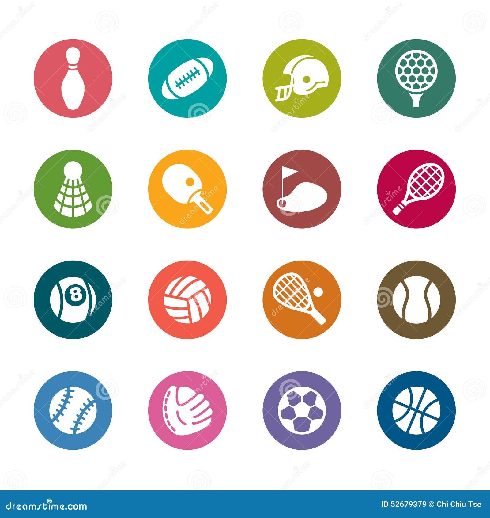Sport Color Icons stock illustration. Illustration of digitally ...