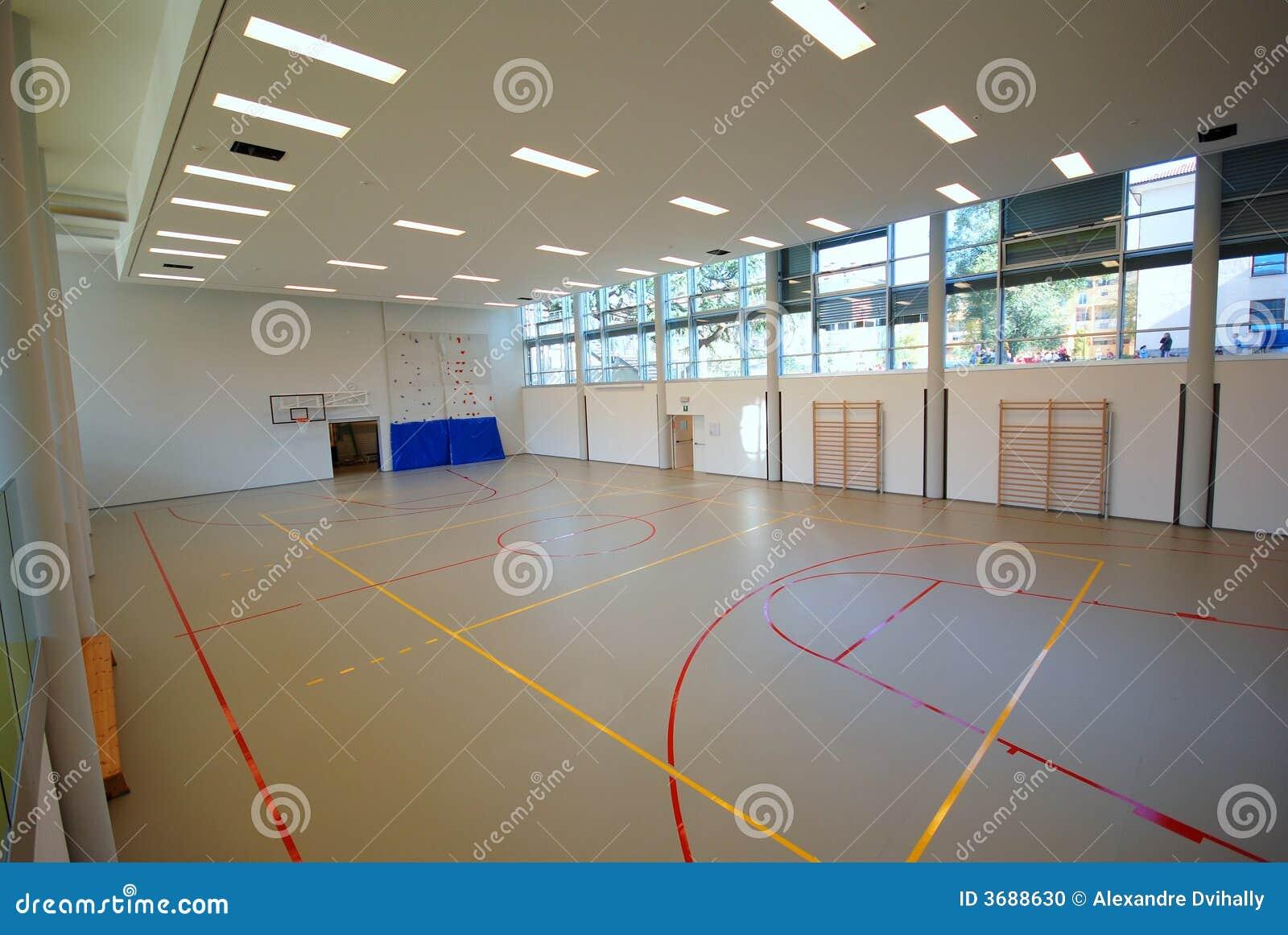 Sport Court Indoor Stock Photo Image 3688630