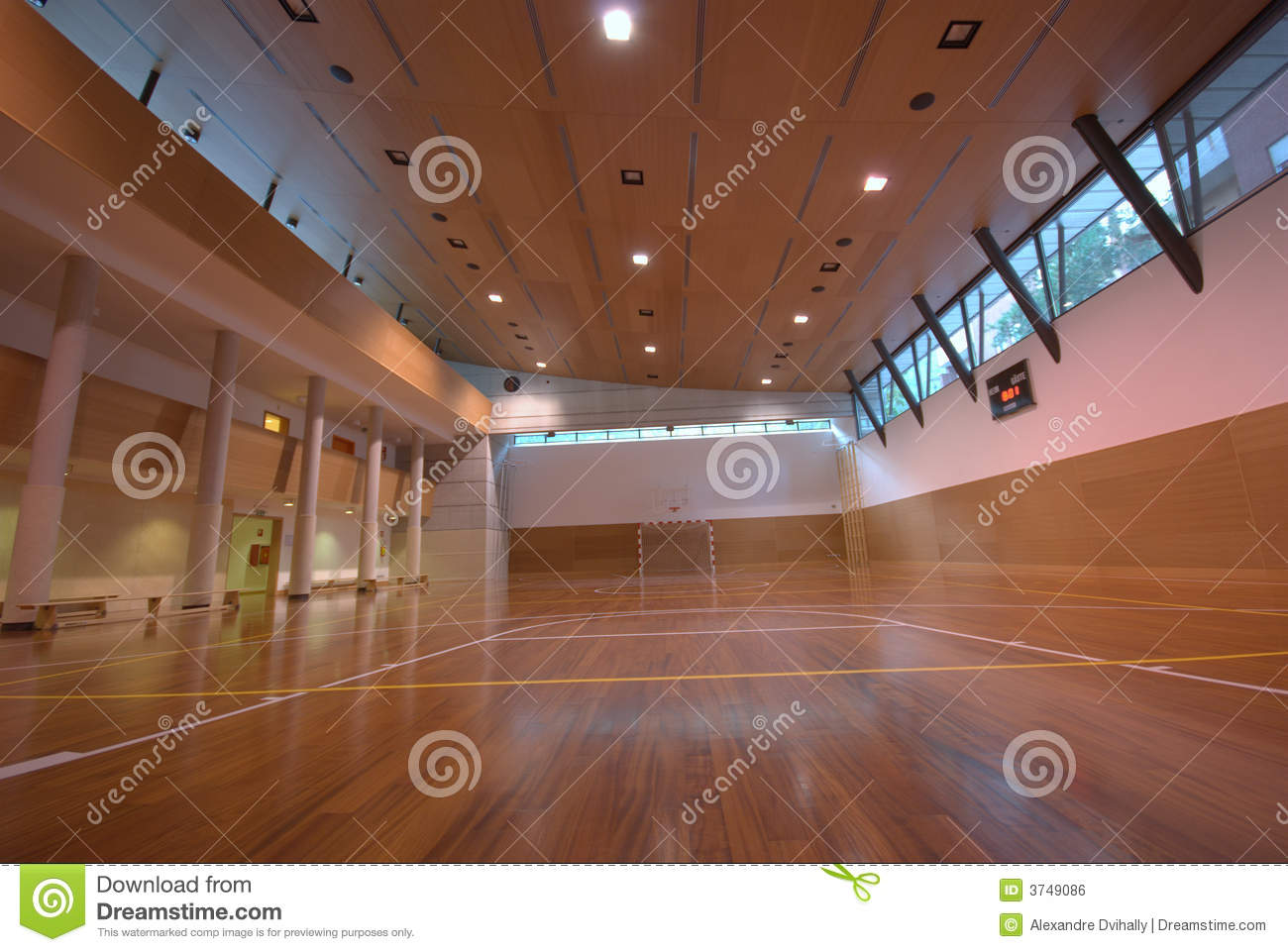 Sport court indoor royalty free stock image image 3749086 for Free inside basketball courts