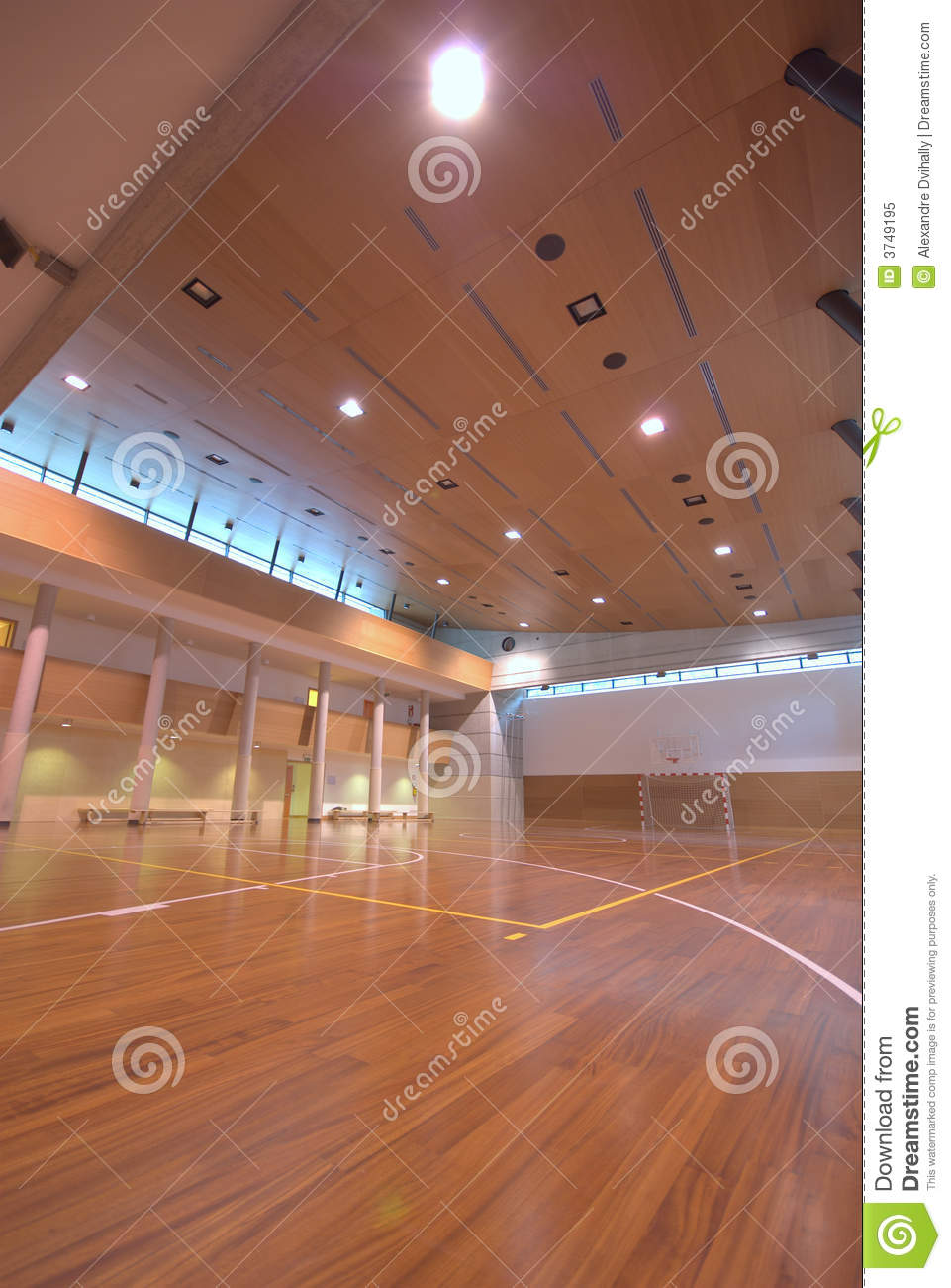 Sport court indoor royalty free stock photo image 3749195 for Free inside basketball courts