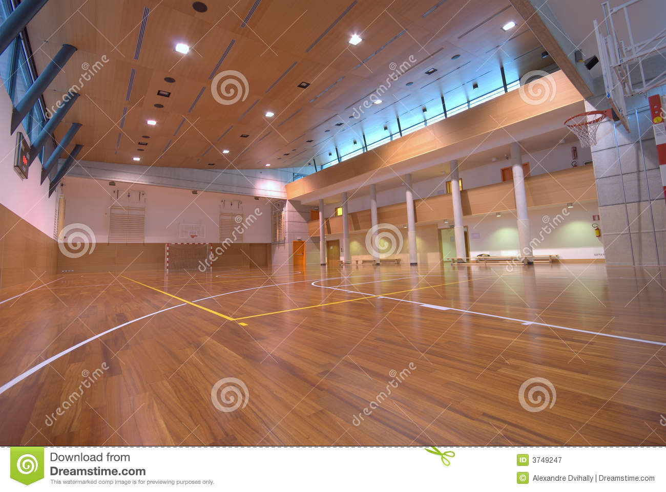 Sport court indoor royalty free stock photography for Free inside basketball courts
