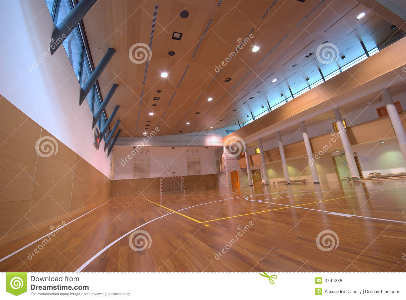 Sport court indoor royalty free stock image image 3749286 for Free inside basketball courts