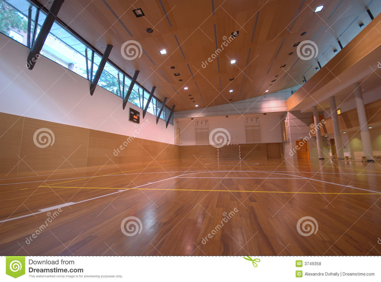 Sport court indoor royalty free stock photos image for Free inside basketball courts