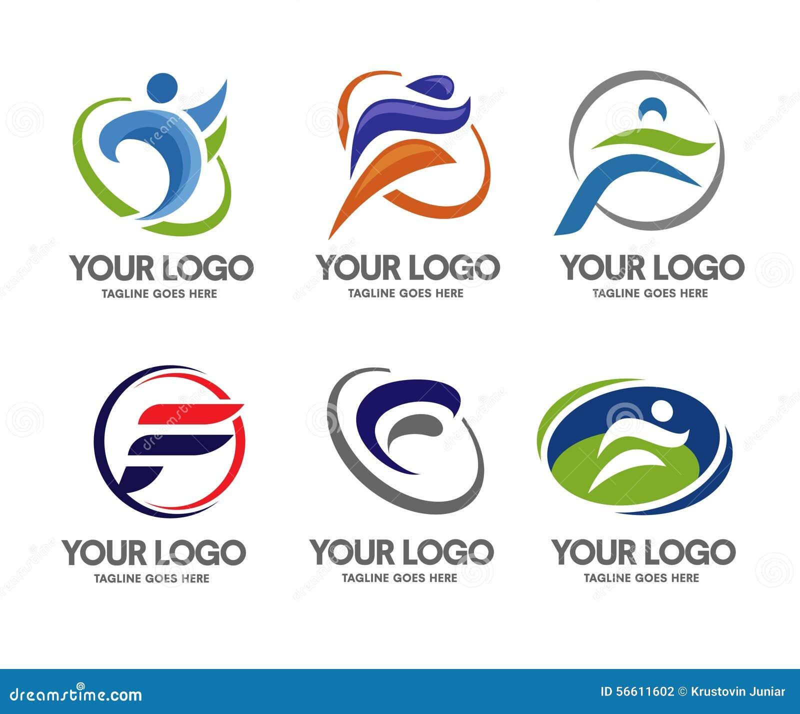 sport de logo de la lettre f illustration de vecteur