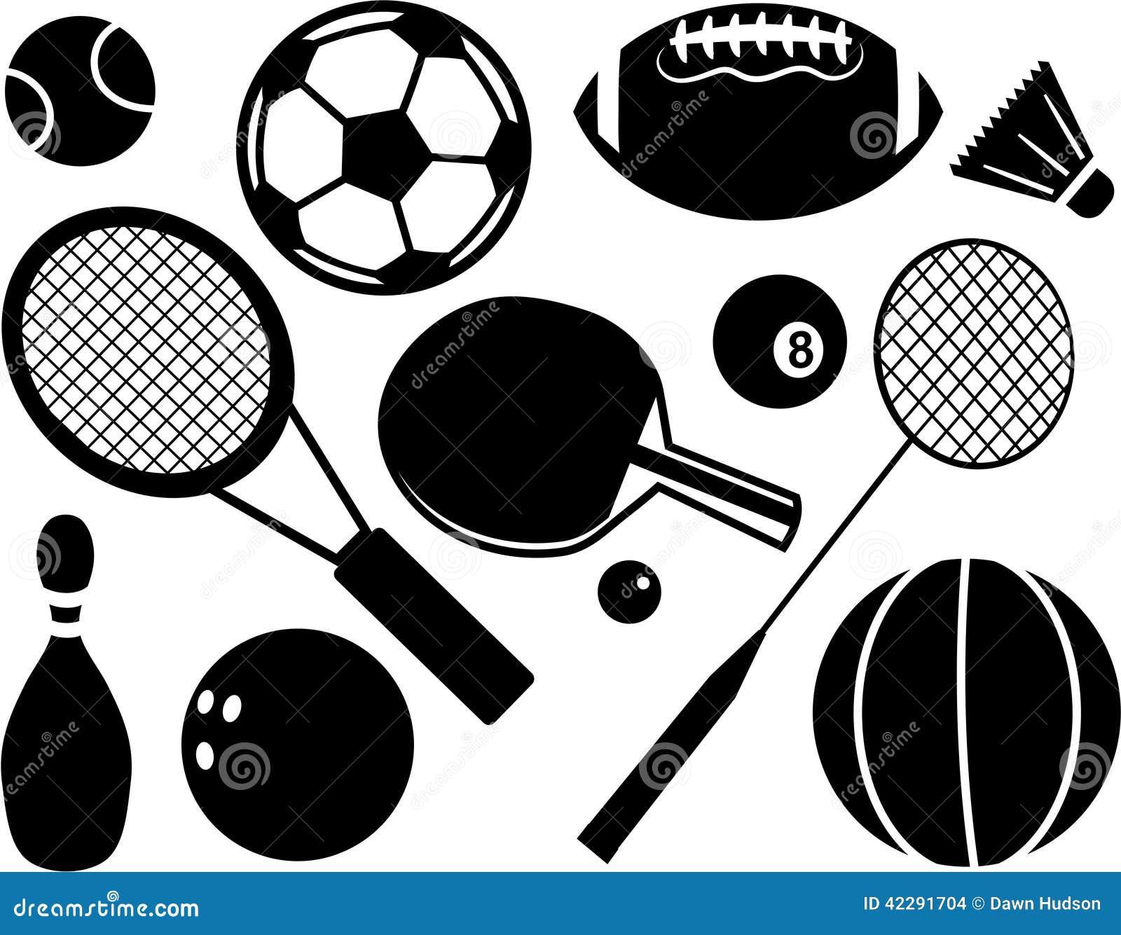 Sport deux de silhouettes de joueurs de graphismes du football de bille