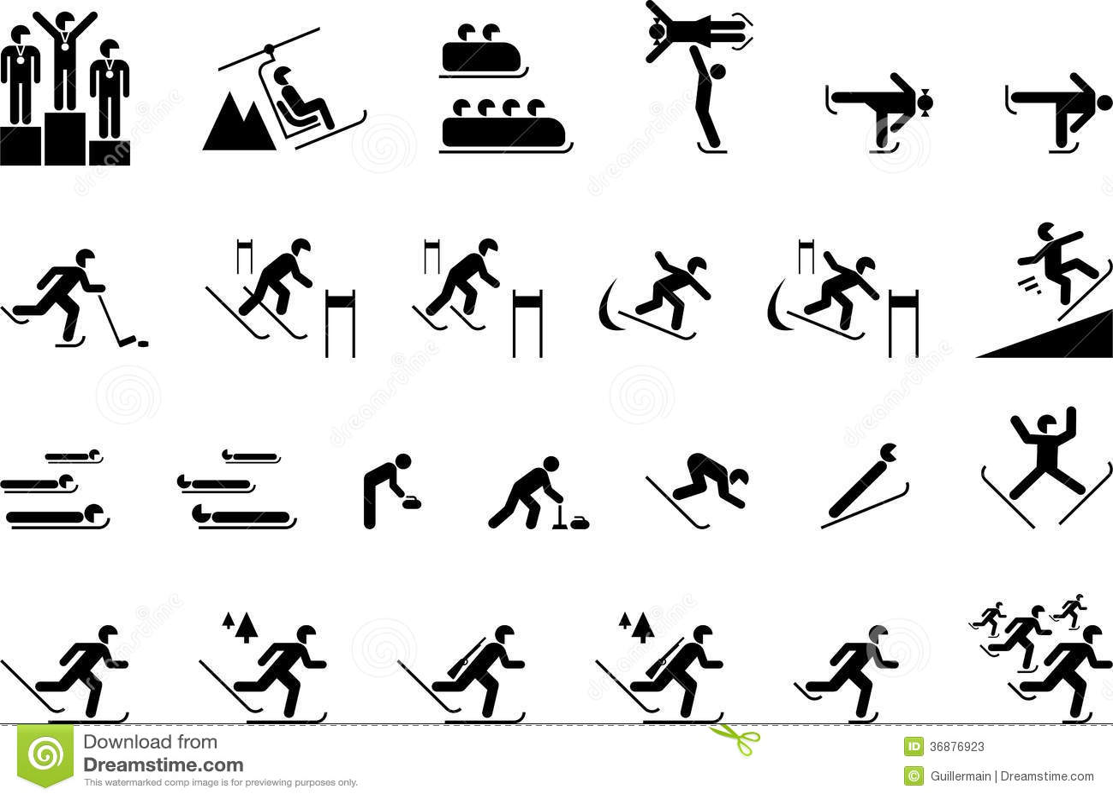 Download Sport Di Olimpiade Invernale Illustrazione Vettoriale - Illustrazione di uomo, concorrenza: 36876923