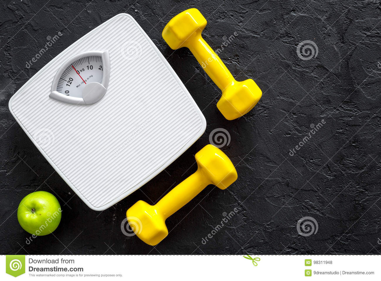 Sport And Diet For Losing Weight Bathroom Scale Apple