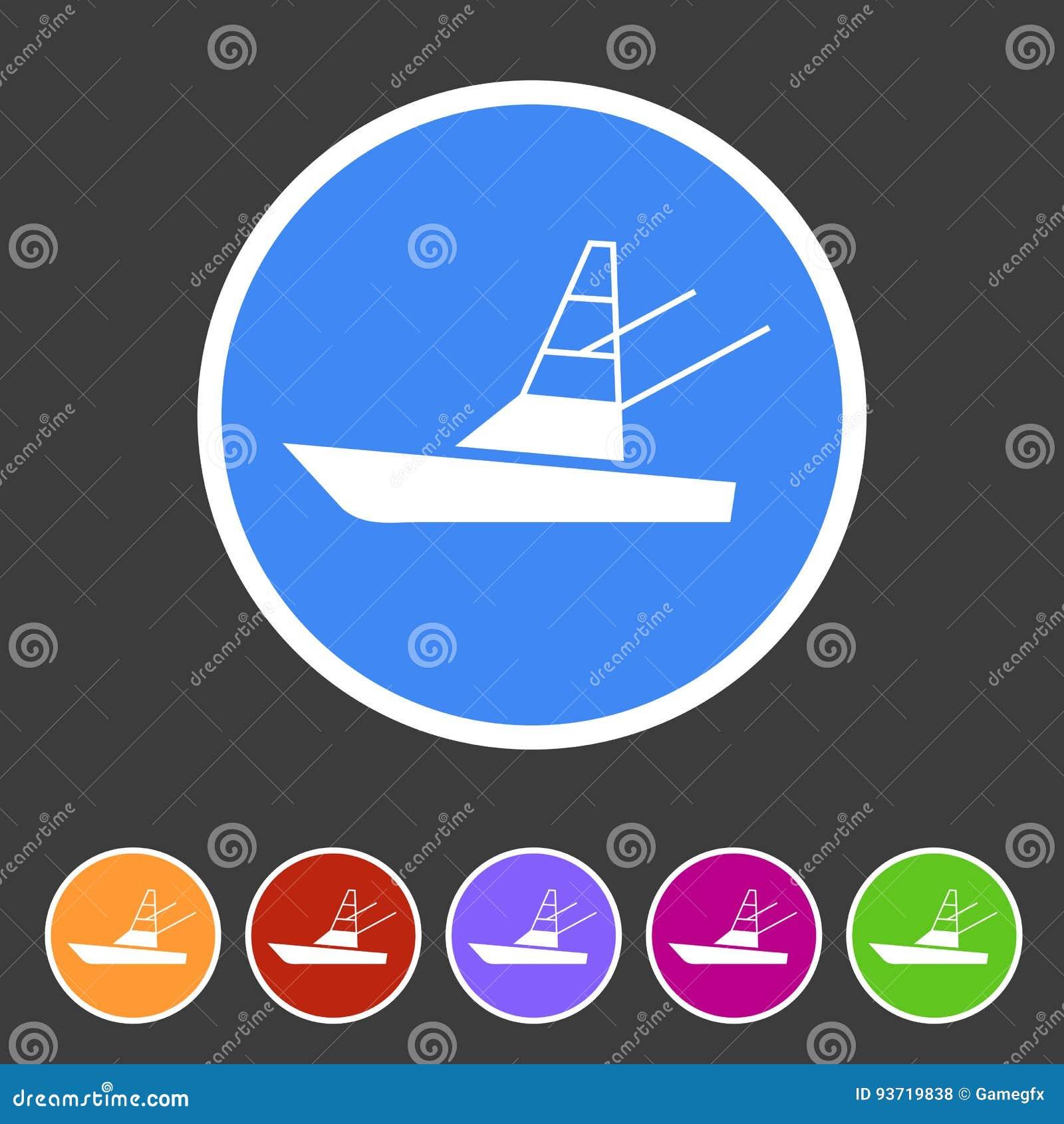 Sport fish boat yacht icon flat web sign symbol logo label stock sport fish boat yacht icon flat web sign symbol logo label ccuart Gallery
