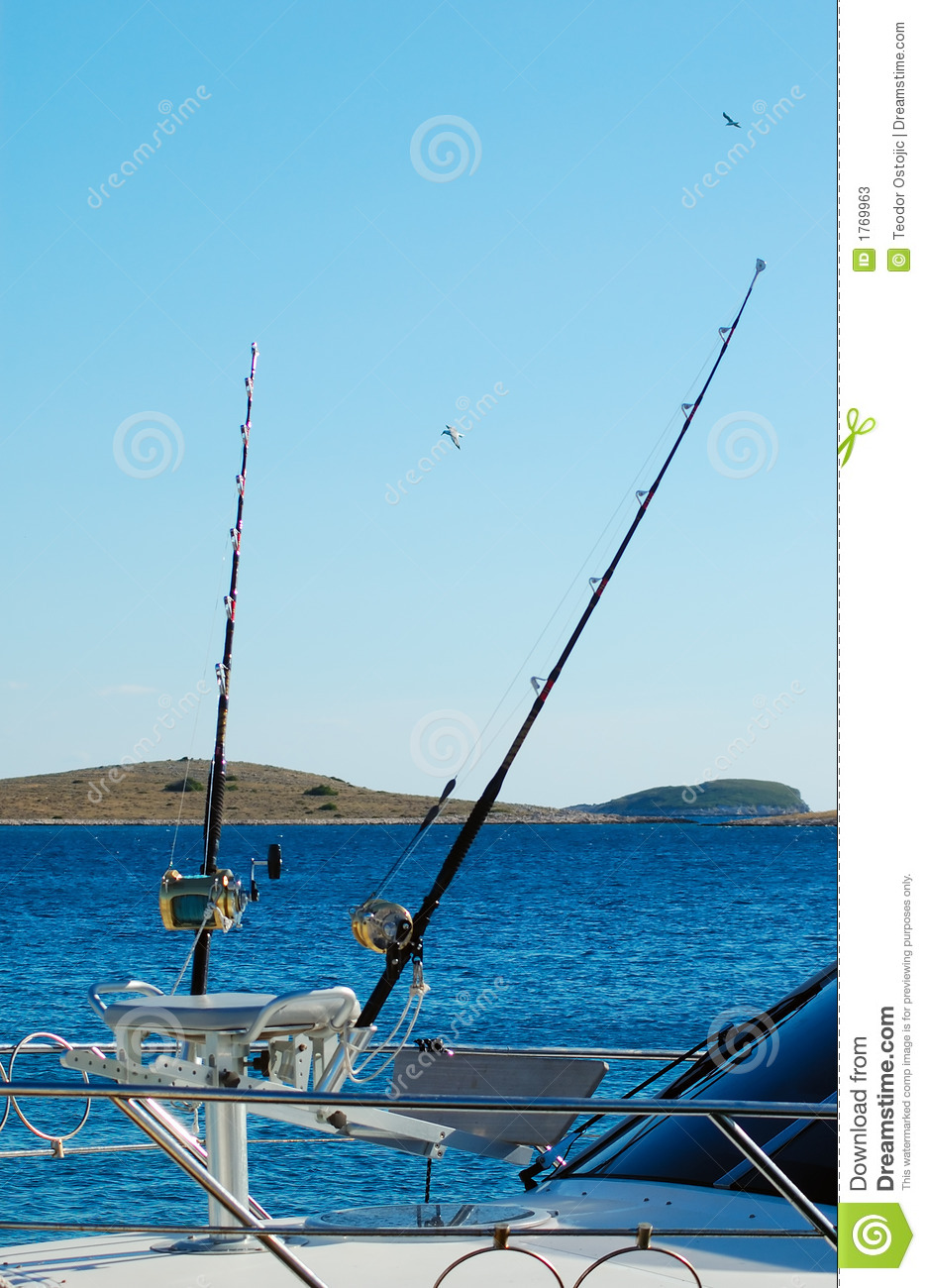 Sport fishing boat for big game fishing stock image for Big game fishing