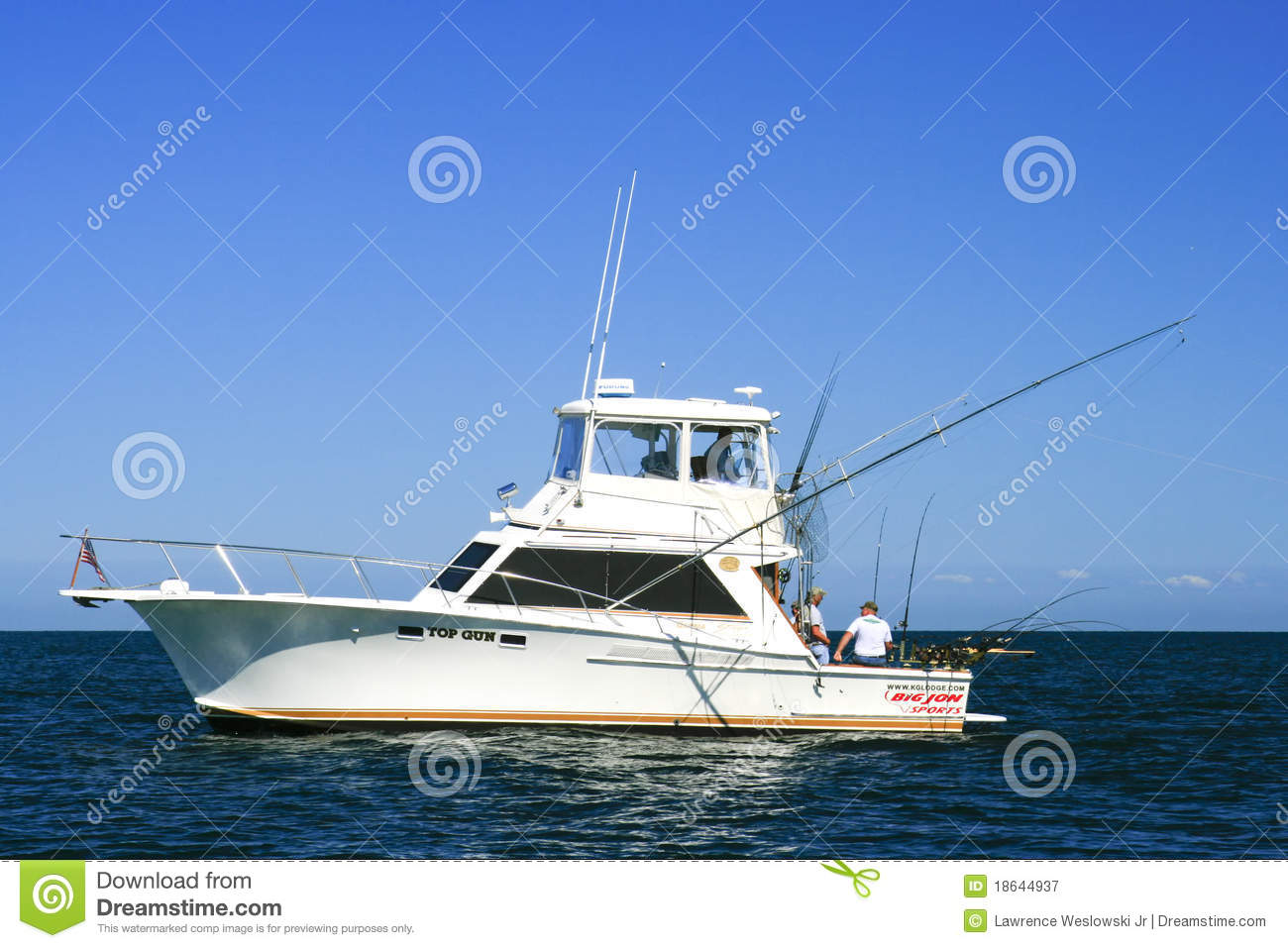 Sport fishing lake ontario charter boat top gun for Best sport fishing boats