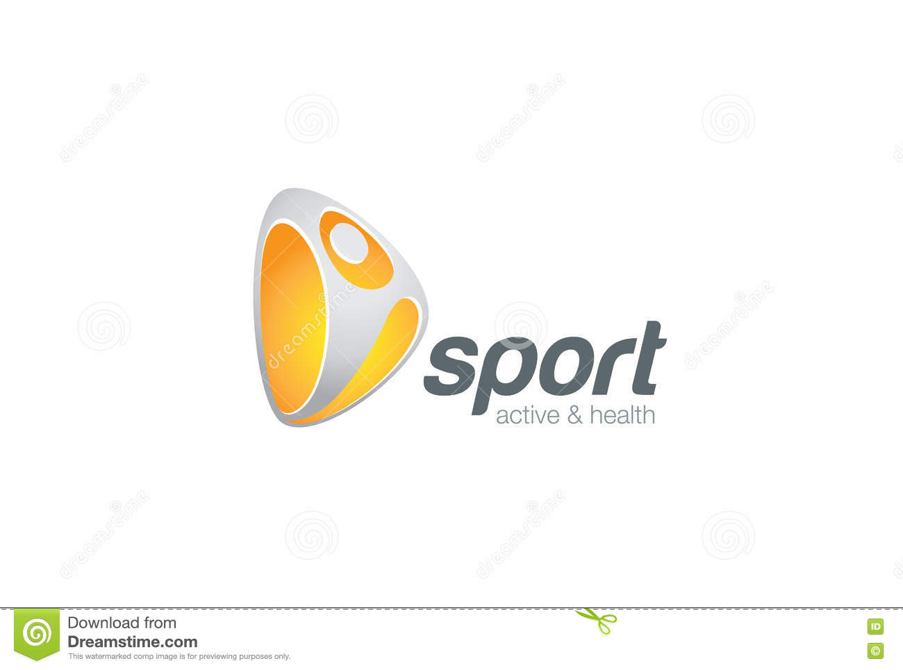 sport fitness active logo emblem character design stock illustration