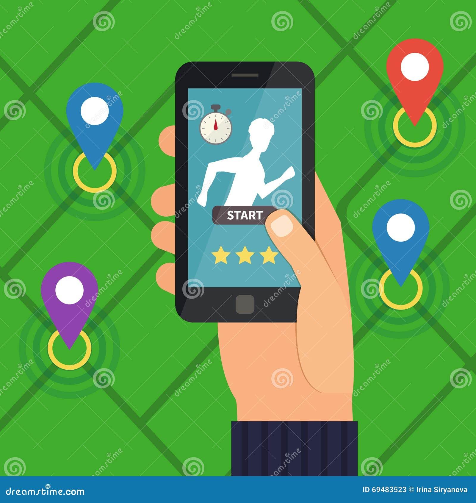 Sport Fitness Application. Running App. Stock Vector ...