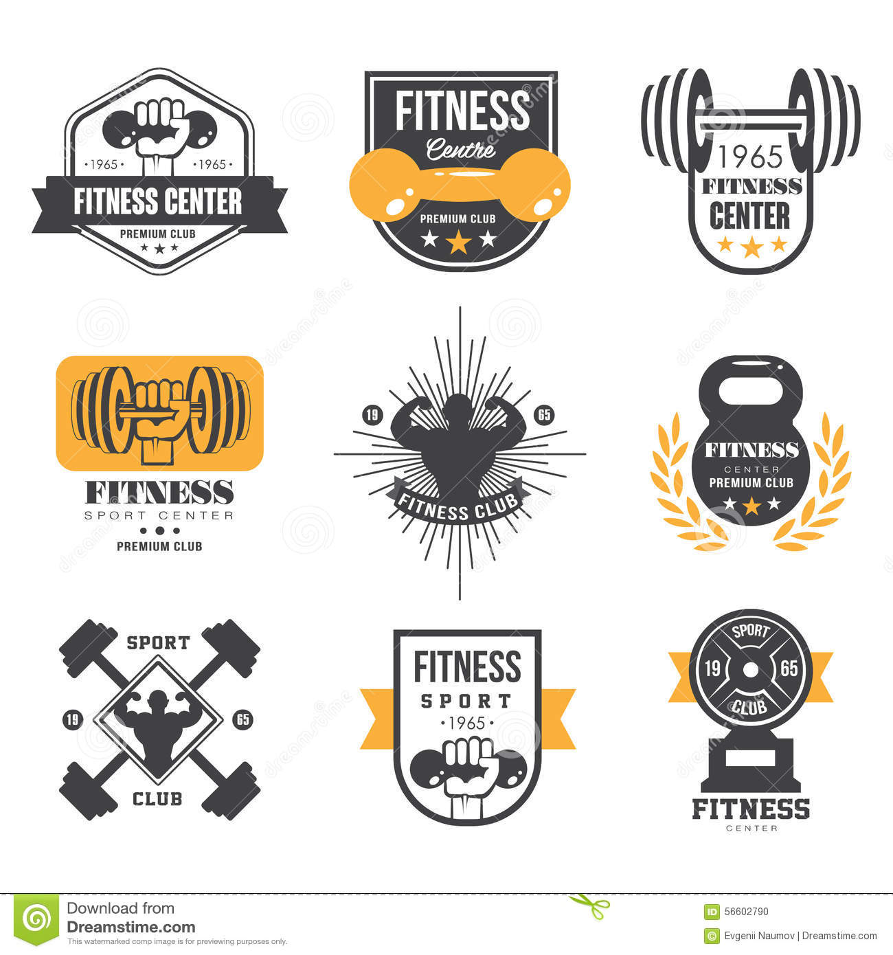Sport and Fitness Logo Templates, Gym Logotypes