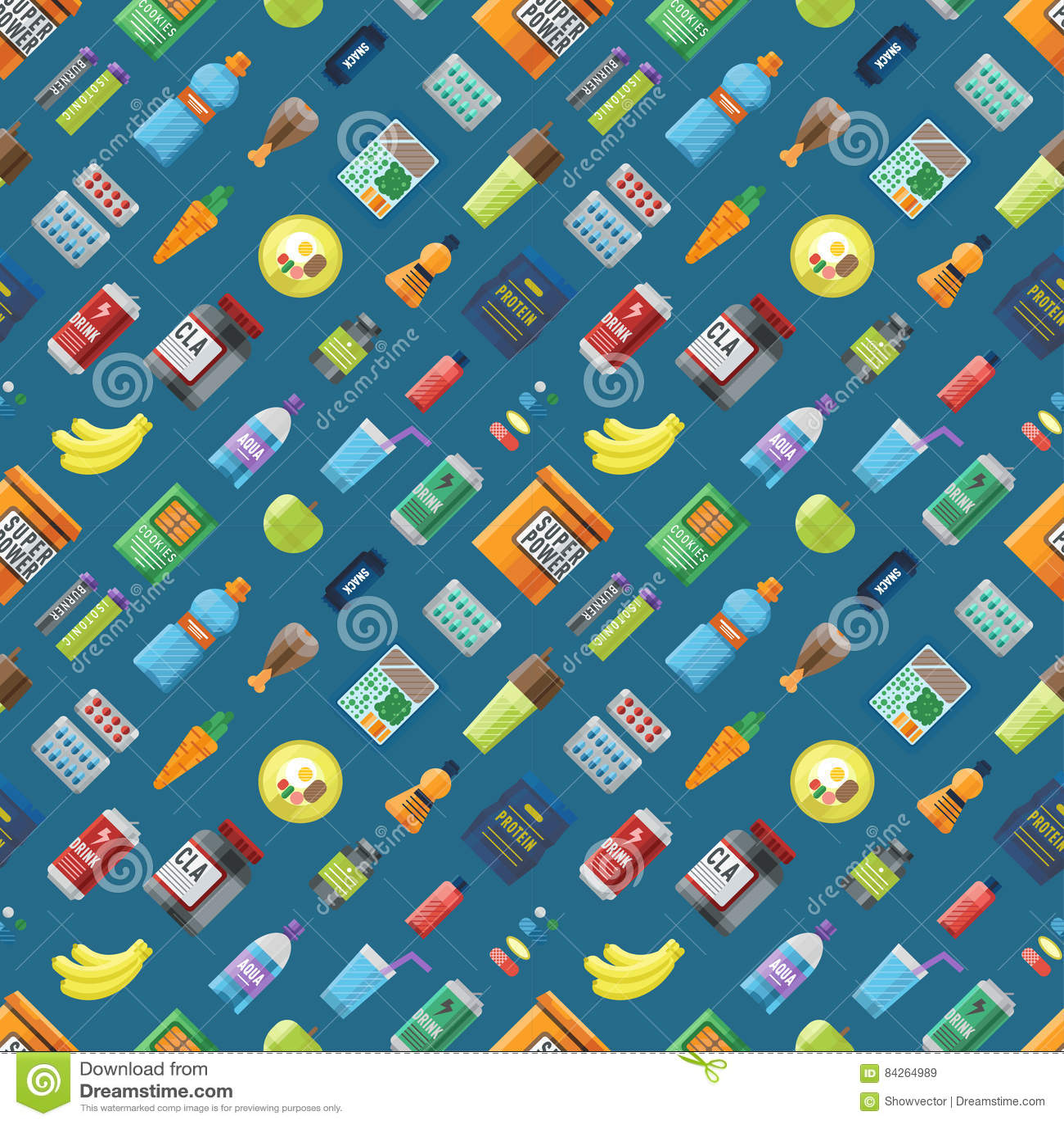sport food seamless pattern stock vector illustration of bananasport food seamless pattern