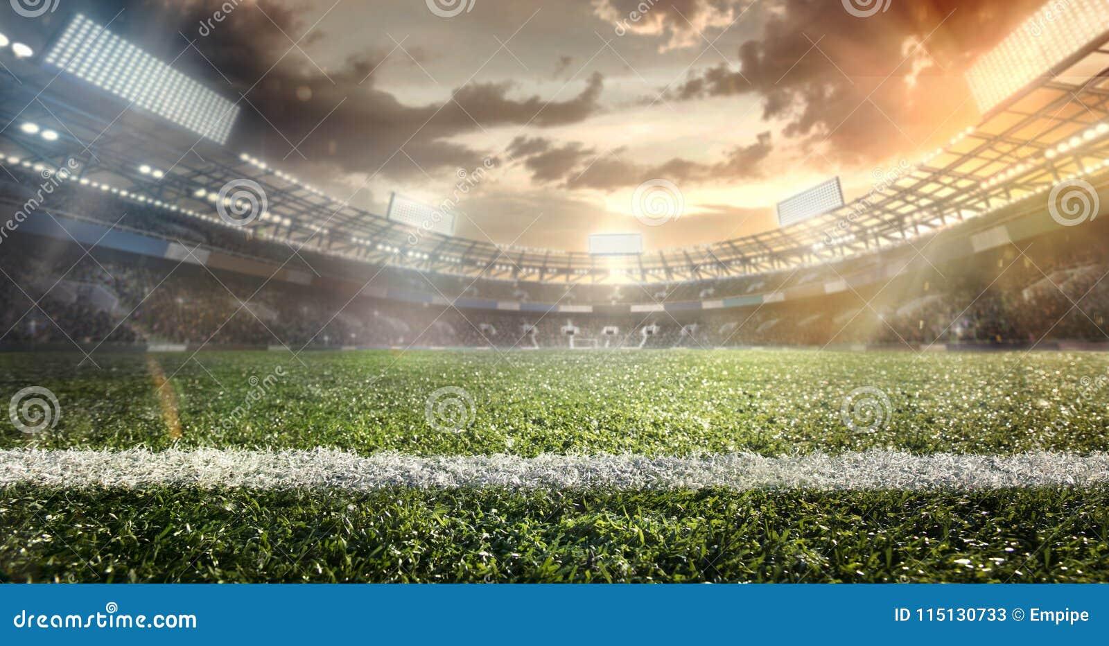 Sport Fotbollboll på stadion