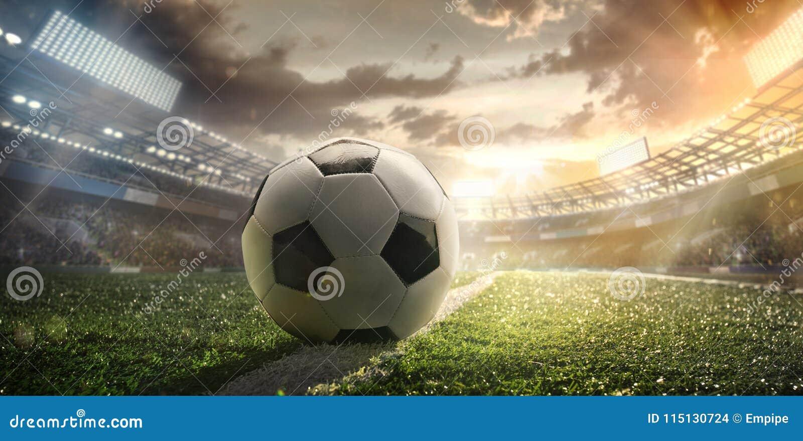Sport Fußballkugel auf Stadion