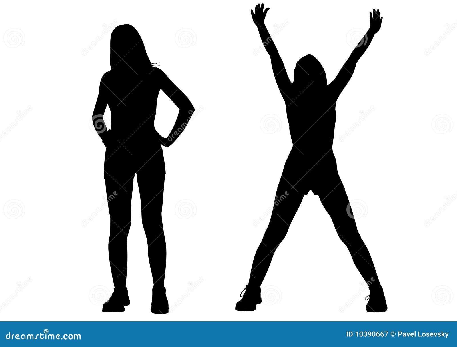 Sport Girl Silhouette Vector Stock Vector