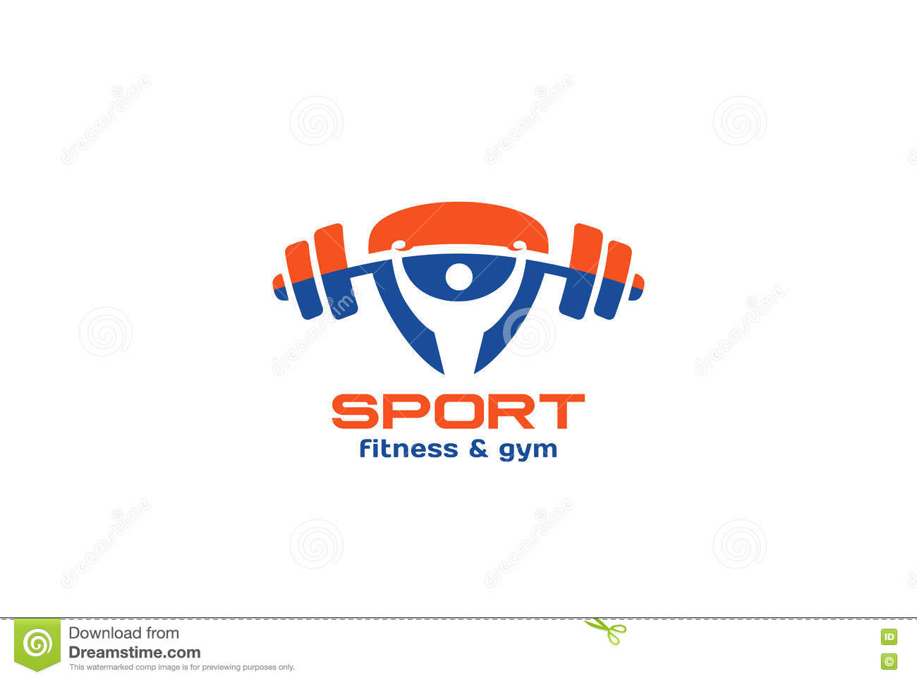 Sport Gym Fitness Logo Design Vector Triangle Stock Vector ... for Logo Design Samples Free Download  66pct