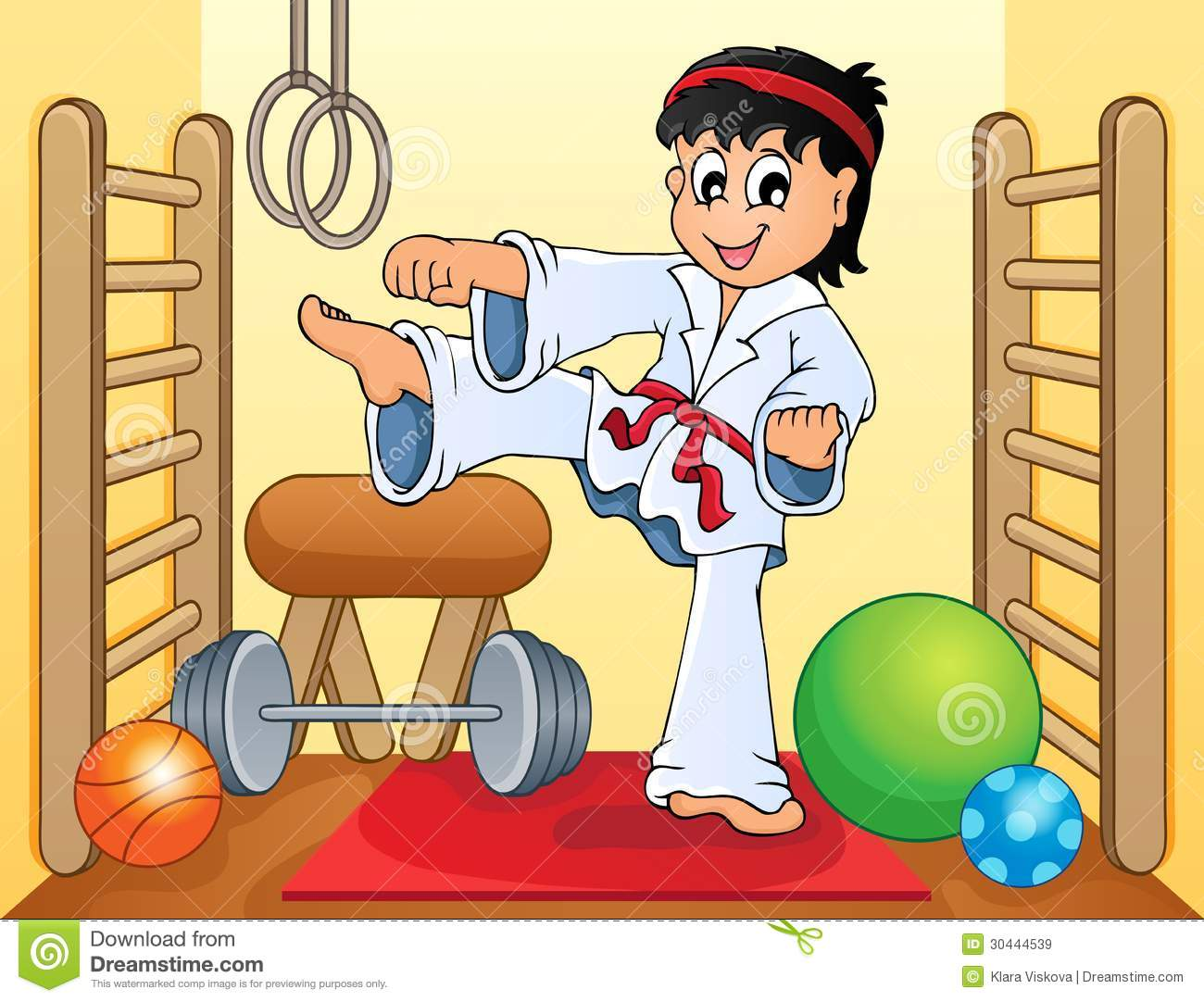 Sport and gym topic image 4 - eps10 vector illustration.