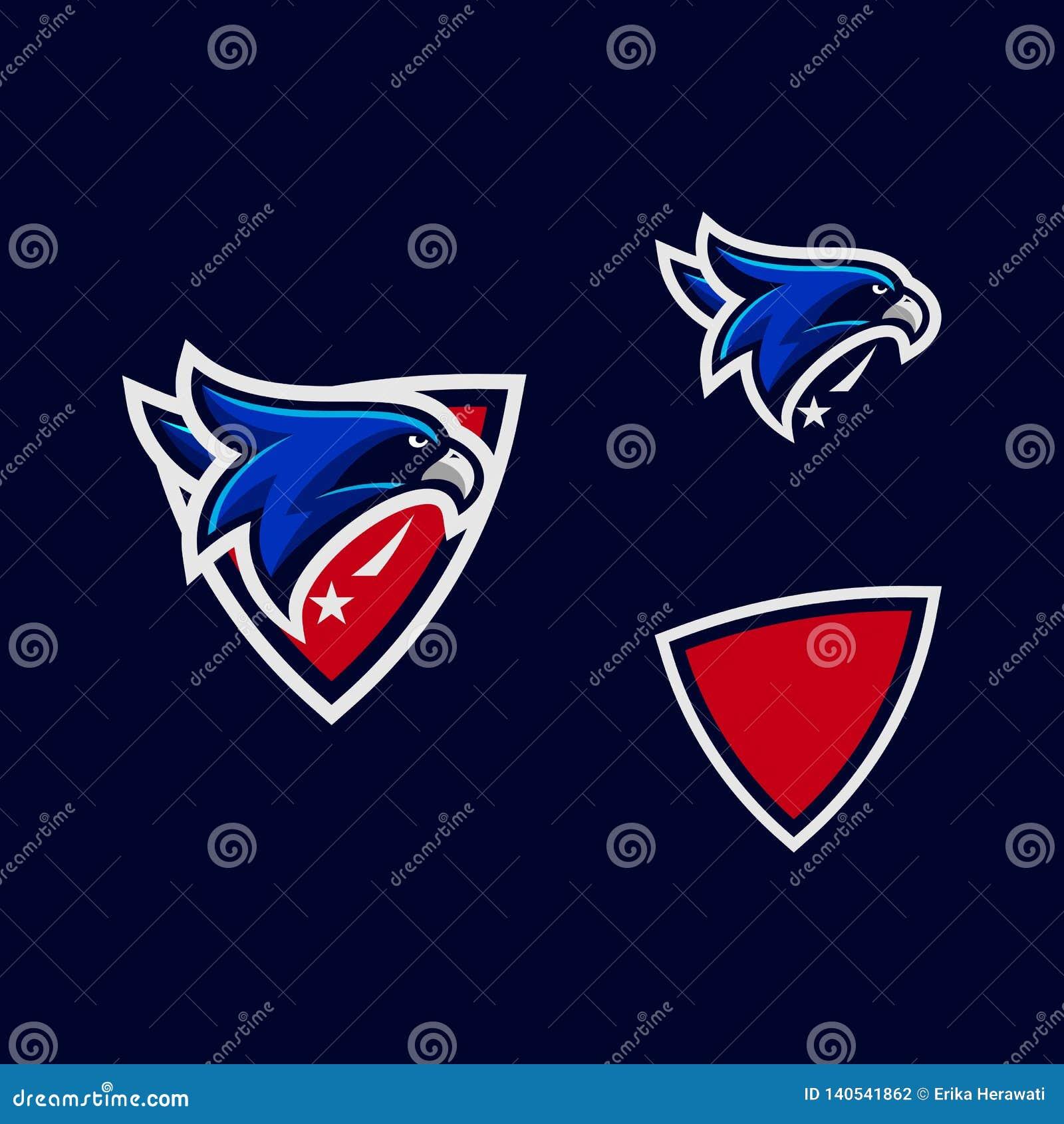 Sport Head Eagle color Designs illustration vector template