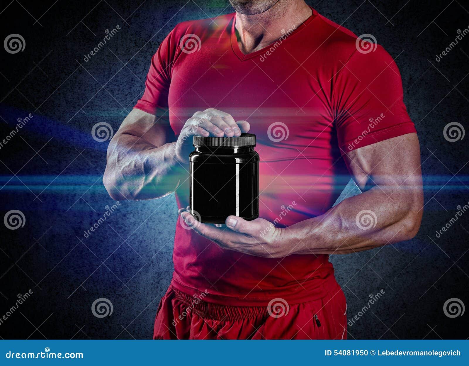 Sport, het bodybuilding, sterkte en mensenconcept - jonge mensensta