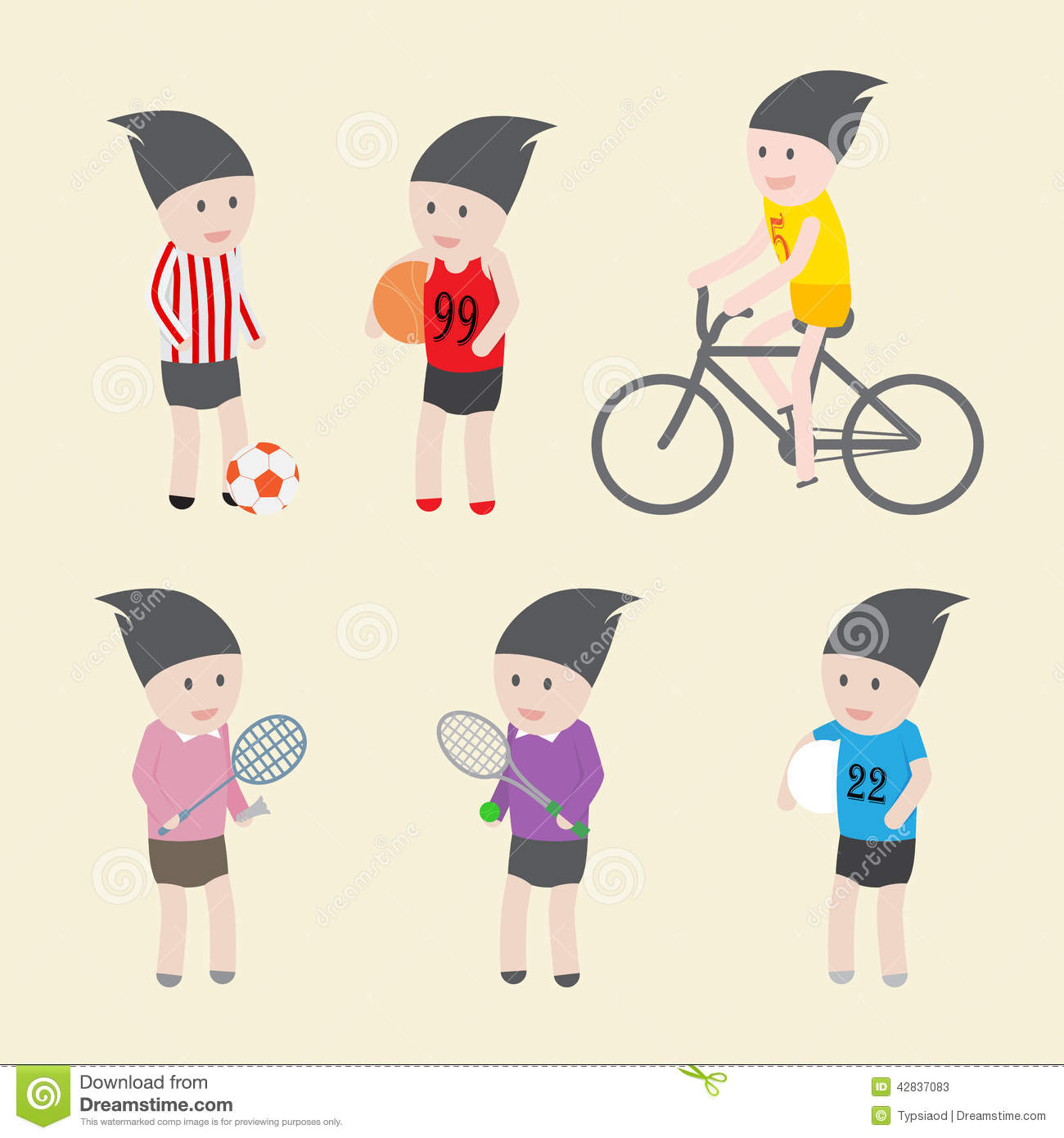 Character Design Icon : Sport icon and character design stock vector image