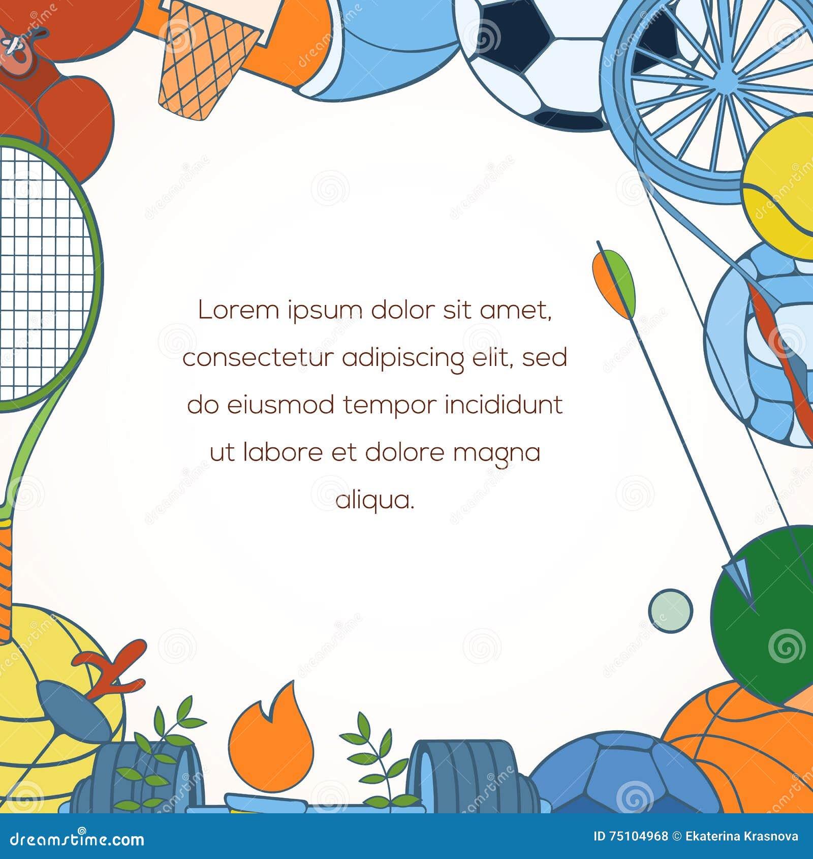 Sport Invitation Card Stock Vector Illustration Of Game