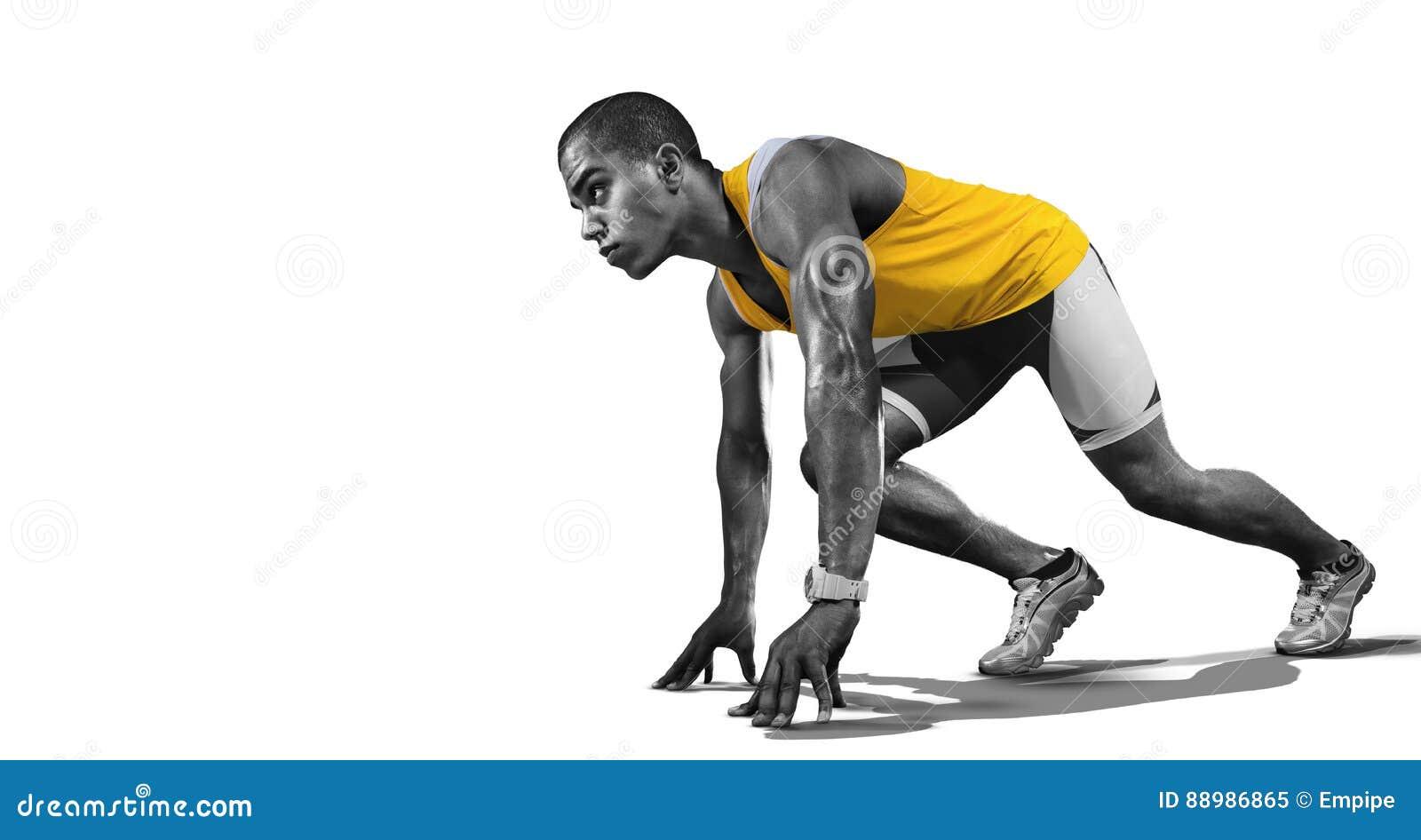 Sport. Isolated Athlete runner.