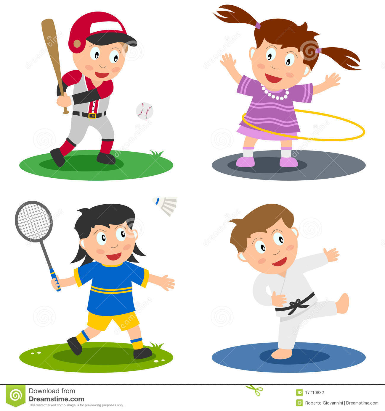 Sport kids collection 2 stock vector illustration of for Sports clipart