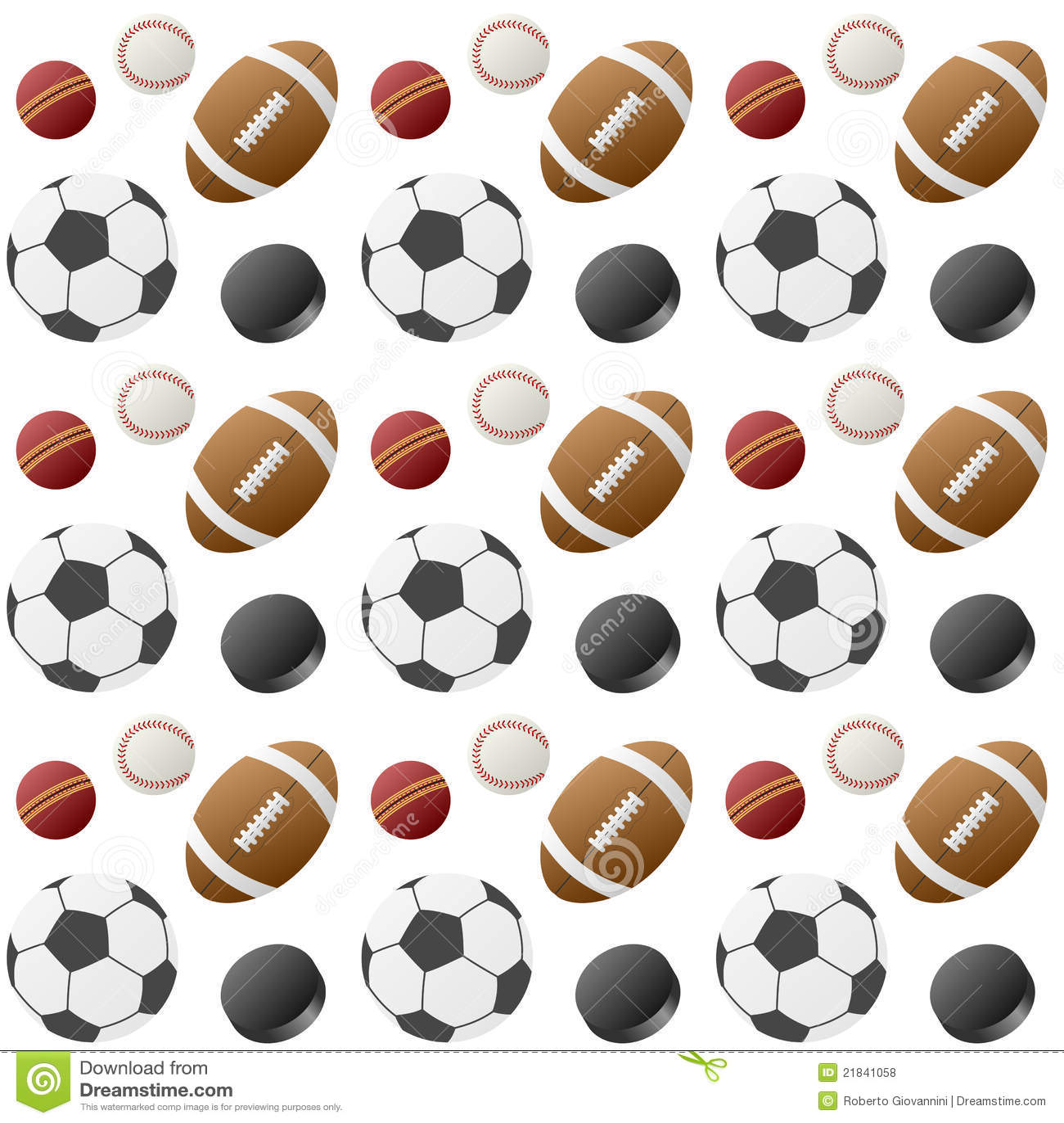 Sport-Kugel-nahtloses Muster [1]