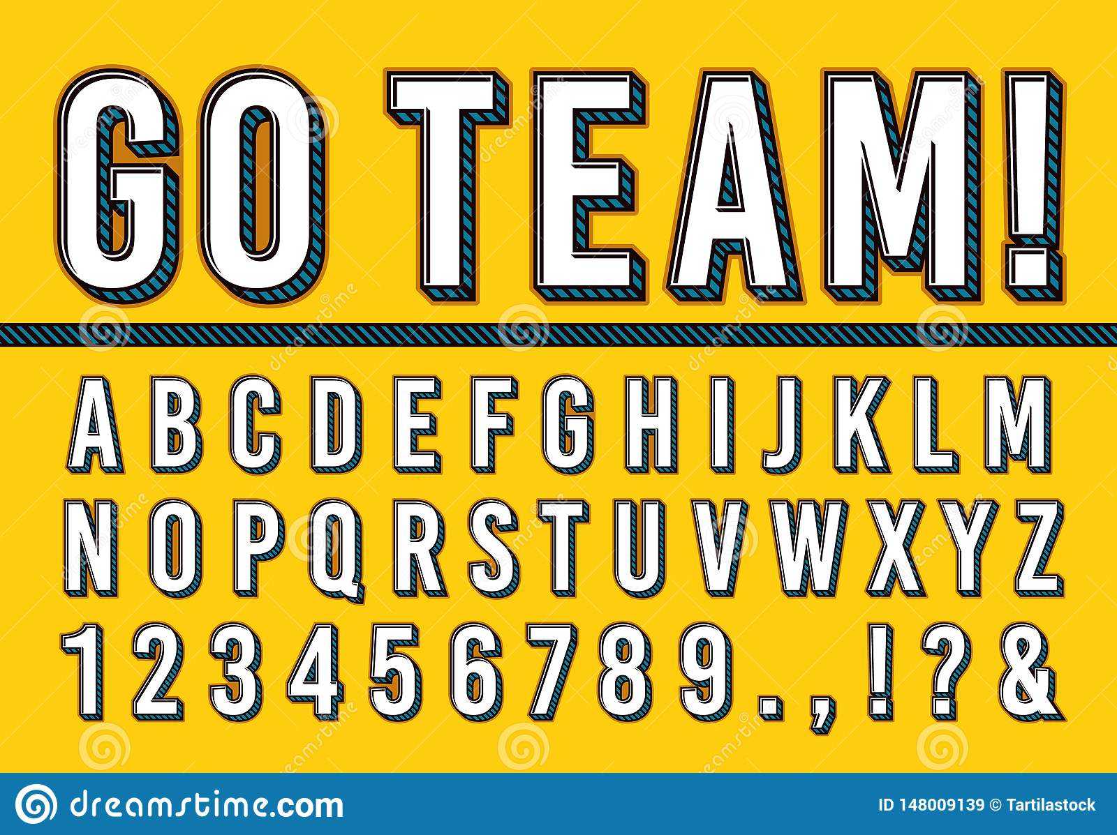 Sport Letters Font  College Sports Team Typography Lettering