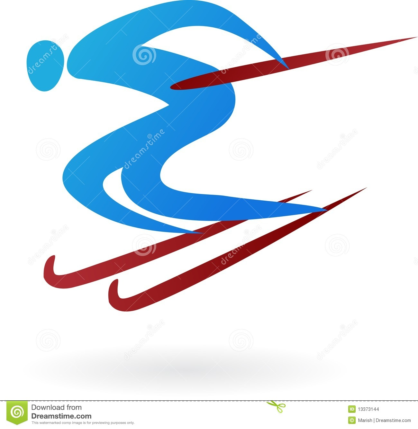 Sport Logo - Ski Stock Images - Image: 13373144