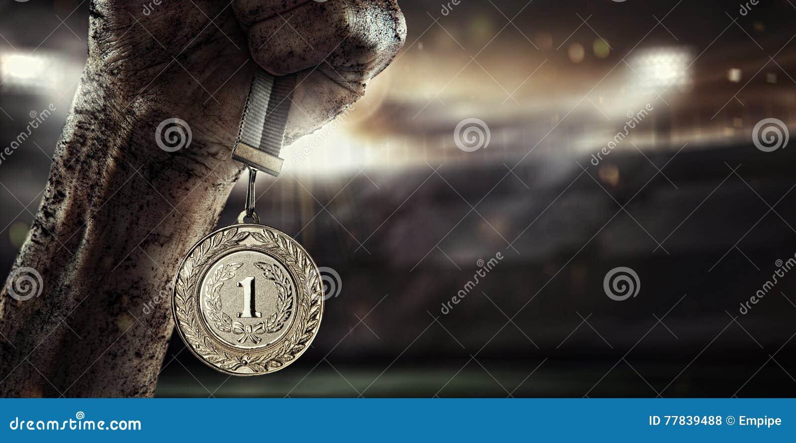Sport, Męski ręki mienia złoty medal