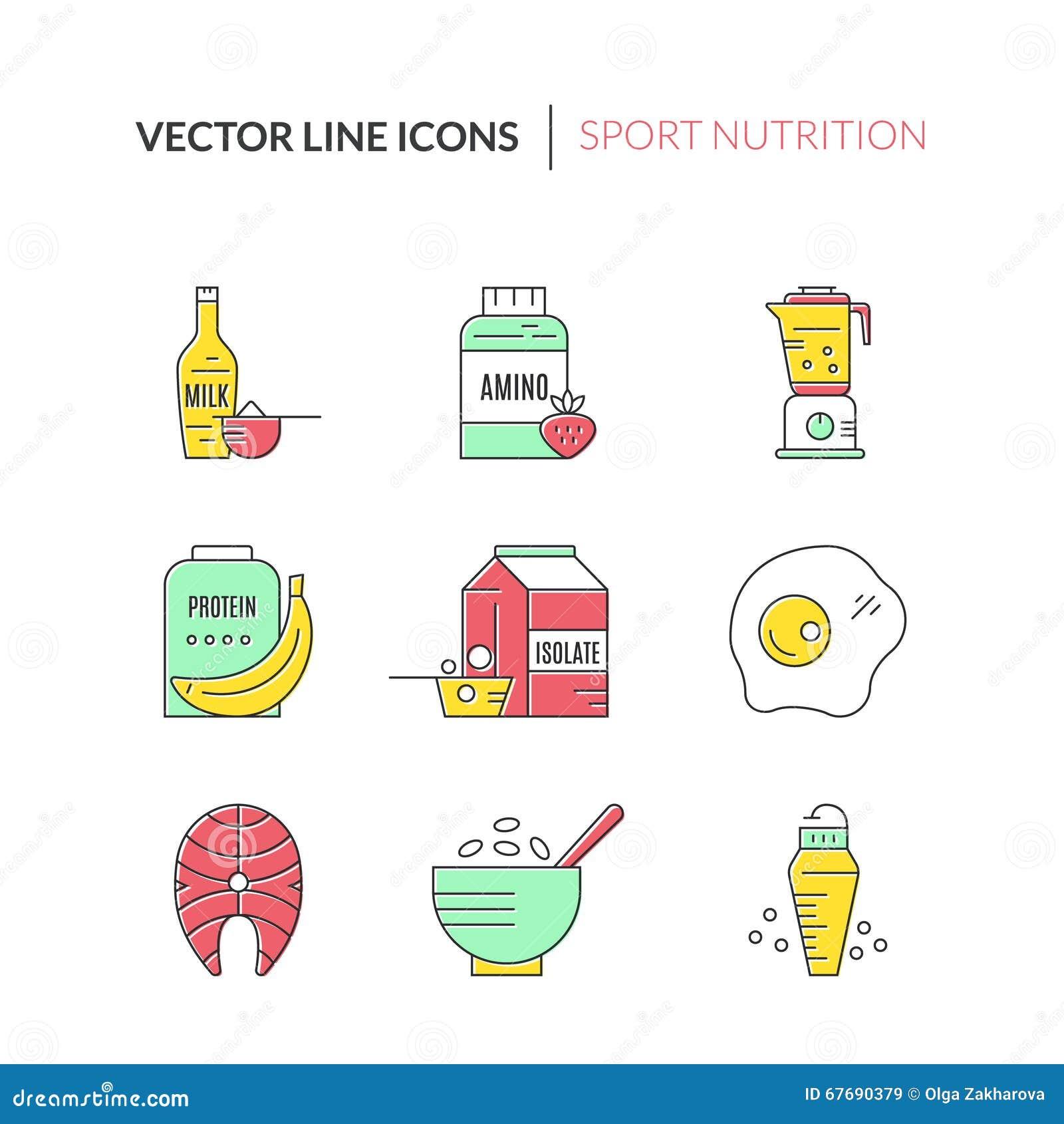 Sport Nutrition Stock Vector Illustration Of Banana 67690379