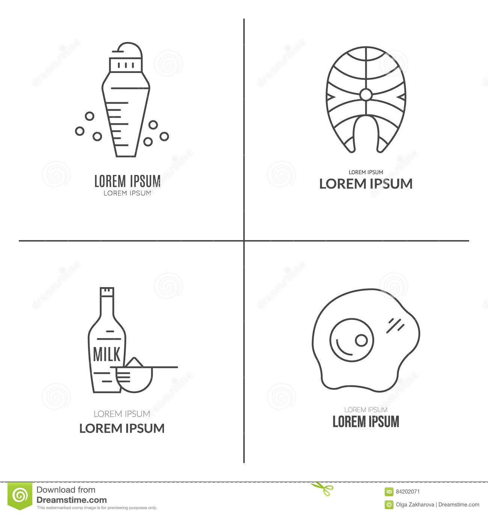 Sport Nutrition Pictograms Stock Vector Illustration Of Milk 84202071