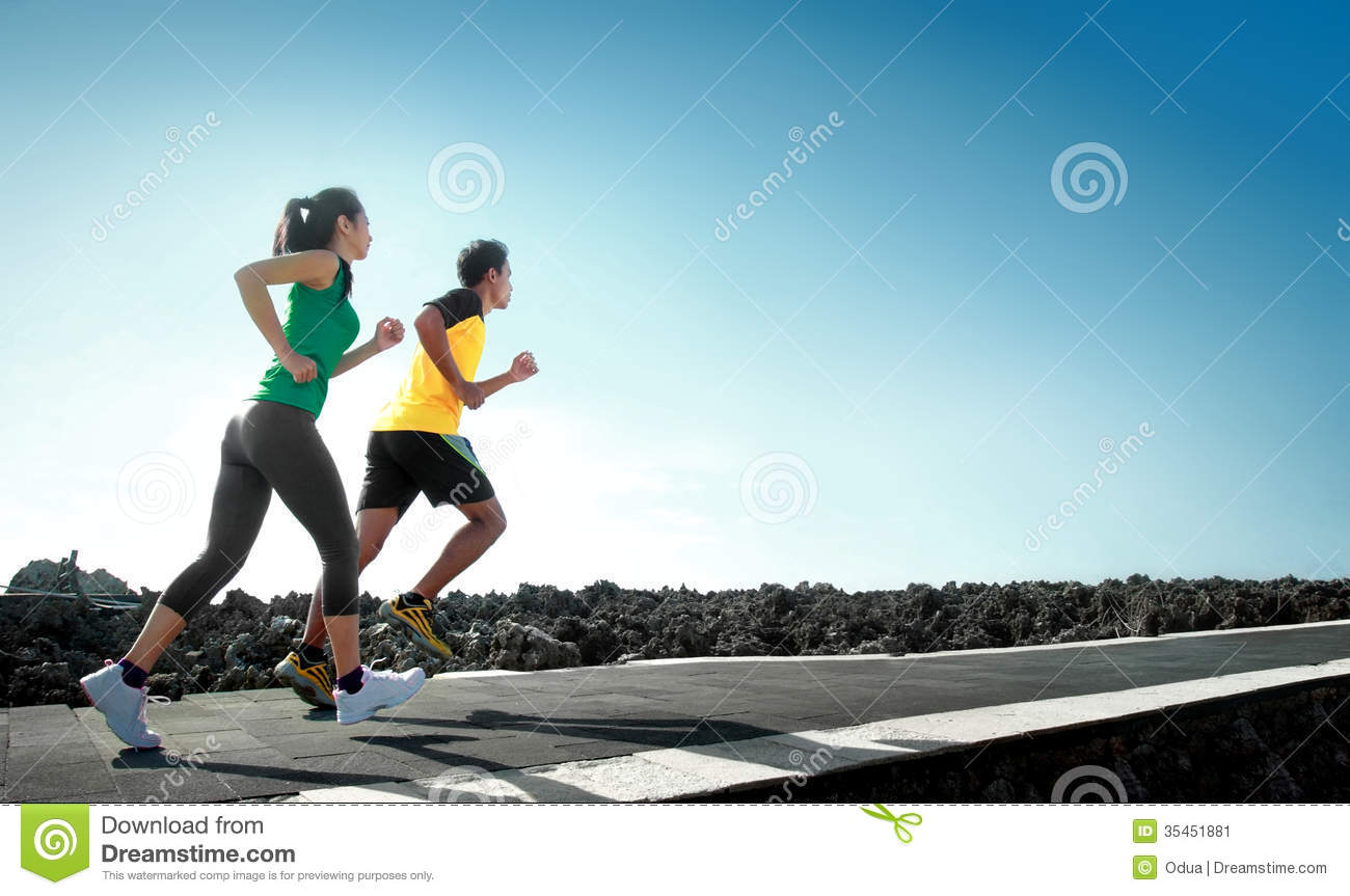 Sport People Running Outdoor Stock Image - Image: 35451881