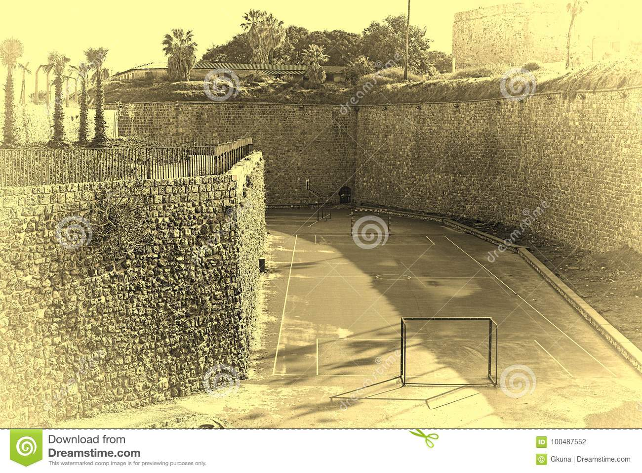 Sport Playground At The Akko Walls In Israel Stock Photo - Image of ...