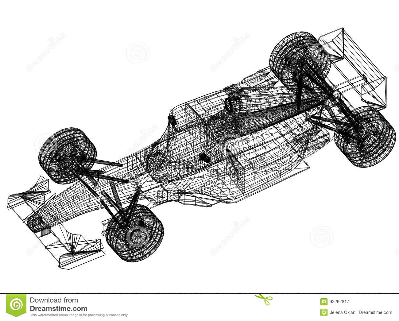 Sport race car blueprint 3d perspective stock illustration download sport race car blueprint 3d perspective stock illustration illustration of blueprint design malvernweather Images