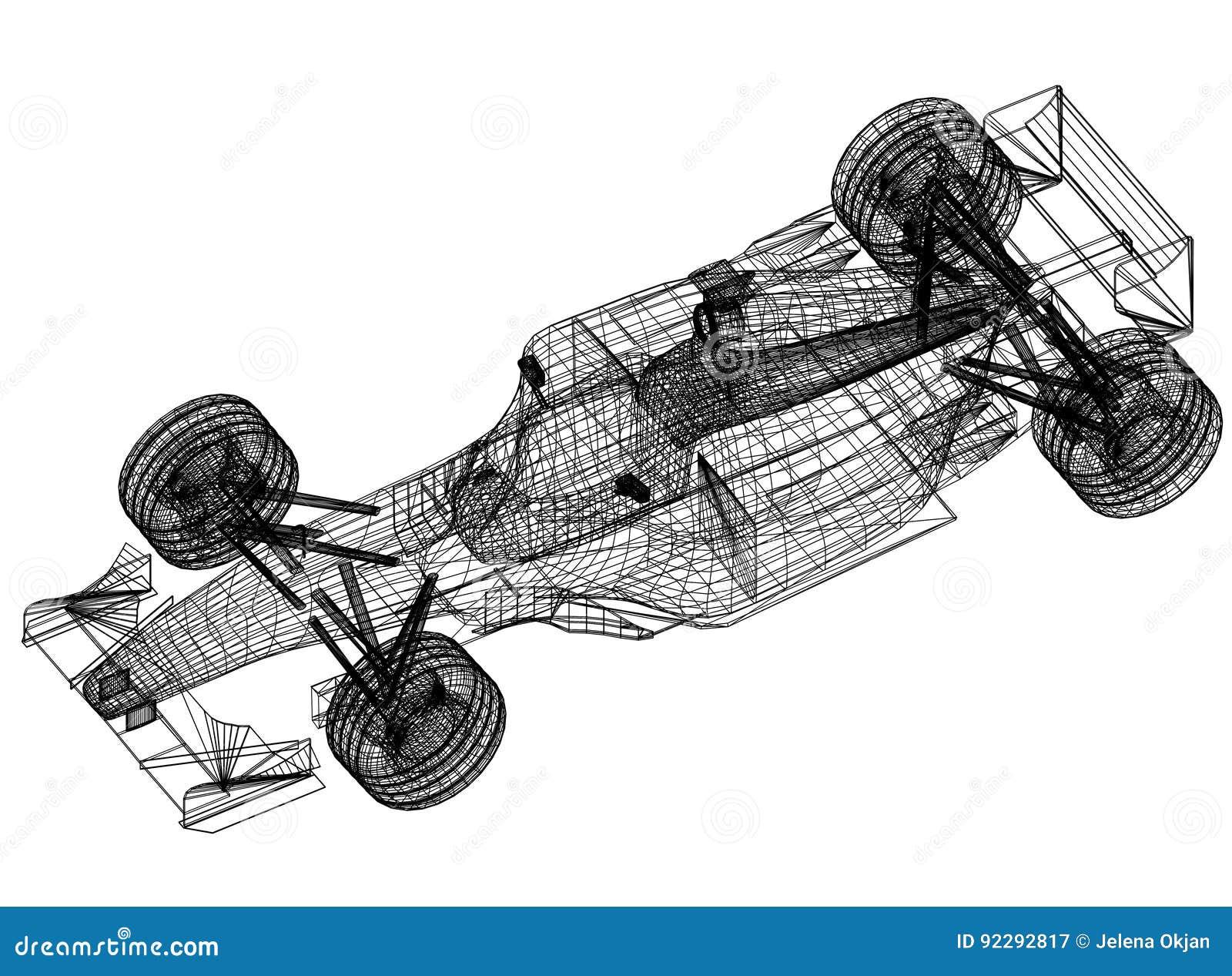 Sport race car blueprint 3d perspective stock illustration download sport race car blueprint 3d perspective stock illustration illustration of blueprint design malvernweather Choice Image